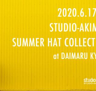 Event : 大丸京都店 1F AKIMBO帽子フェア 2020/6/17 – 23